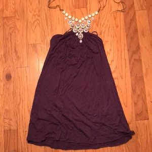 Plum knit NEW YEARS dress or causal size L